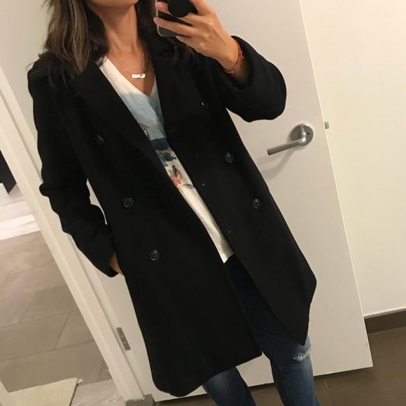 Black camel hair coat